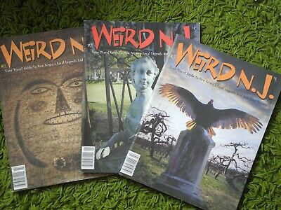 Weird NJ magazines x3 Forteana alternative New Jersey free postage