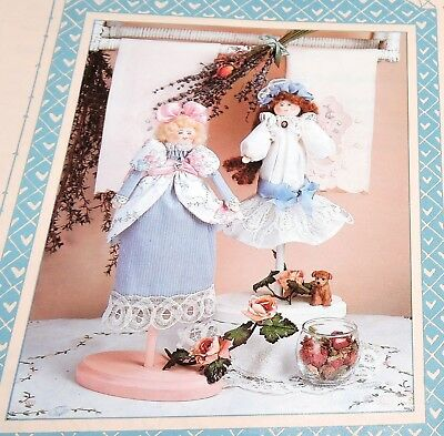 Lavendar Rose Scented Sachet 2 Dolls Pot-Pourri Pattern Girls All Cooped Up Easy