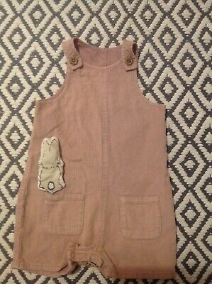 Baby girls bunny dungarees 12-18 mths