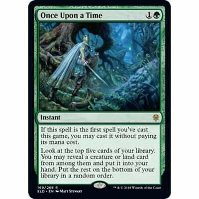Once Upon a Time x1 English -BFG- MTG Magic 1x Throne of Eldraine Near Mint
