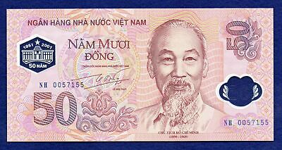 Vietnam, 2001 Commemorative Polymer 50 Dong Banknote, Uncirculated (Ref. b0720)