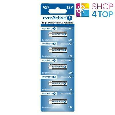 5 Everactive Alkaline Batteries A27 Mn27 27A 12V No Mercury G27A Exp 2022 New