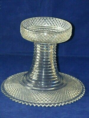 SUPERB Antique Early 19th Century Georgian Cut Glass Pineapple Stand –Circa 1820