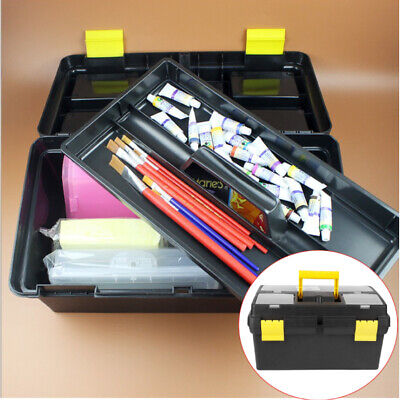 Portable Plastic Tool Box Lockable Removable Storage Compartments Cantilever UK