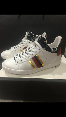 new high good out x best website GUCCI ACE WOMENS White Lace Up Trainers Size EU 35.5 UK 2.5 ...