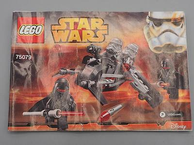 Lego Star Wars Shadow Troopers 75079 Instruction Manual Only