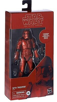 """HASBRO STAR WARS BLACK SERIES 6"""" inch CARBONIZED SITH TROOPER ACTION FIGURE"""