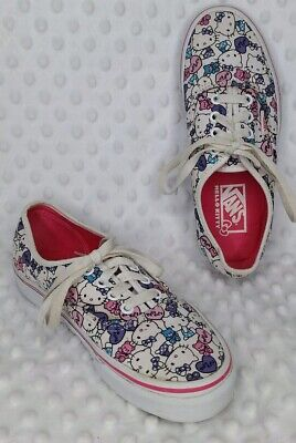 Vans Off The Wall Hello Kitty White Pink Print Sneakers Shoes Women's 6