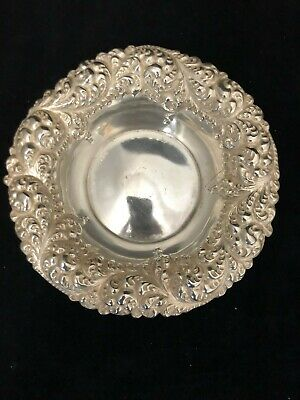 Vintage Sterling Silver Repousse Bowl