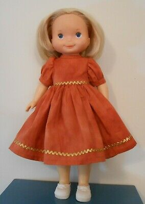 Autumn dress for 16 inch My Friend Mandy and similar dolls by linroze