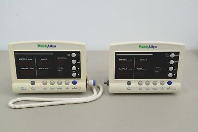 Lot of 2 Welch Allyn 52000 Vital Signs Patient Monitor (14163-4 A12)
