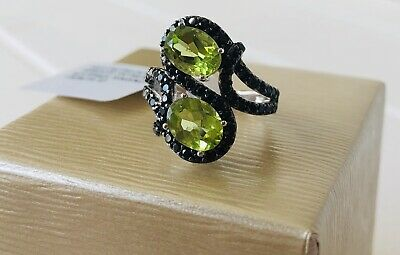 Beautiful Brand New, with tags, Sterling Silver Genuine Peridot & Spinel RING