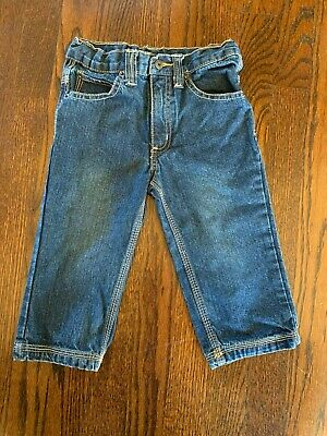 Timberland Infant Boys Blue Jeans Size 24 Months 5 Pockets Adjustable Waist