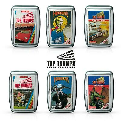 Top Trumps Retro Card Game – Throw it back with your Old School Favourites!