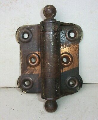 Antique CHICAGO Tiger Copper Japanned Spring Loaded Screen Door Hinge 3 x 2 3/4""