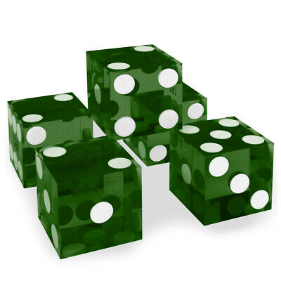 Casino Dice 1 sleeve of 5 polished serialized dice choice of color 5 colors