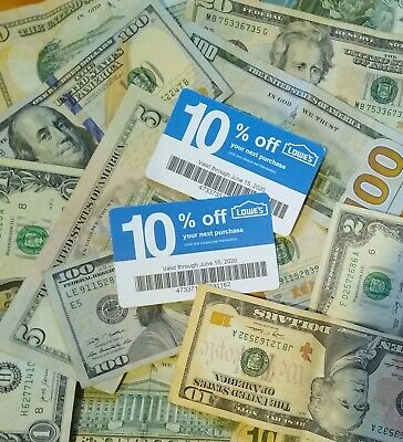 Save $$$ Two-LOWES Coupons 10% OFF At Competitors ONLY Home Depot Exp 6-15-20