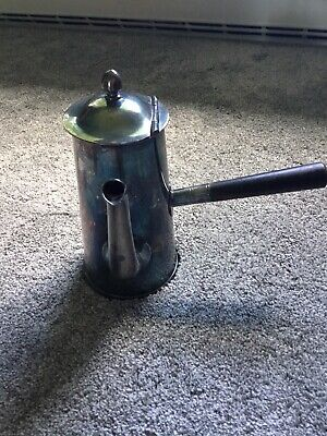 Vintage Reed And Barton Silver Soldered Coffeepot W/Wooden Handle