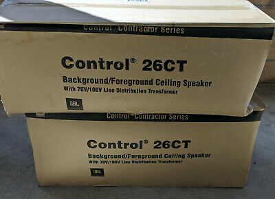 Pair Of JBL Control 26CT Contractor Series Ceiling Speakers, New in Box