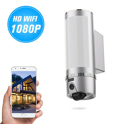 Floodlight HD 1080P WiFi Camera Motion-Detected Security Cam Two-Way Talk N2L7