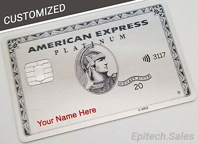 REAL CUSTOMIZED American Express Platinum Card YOUR NAME ON IT REAL METAL Amex