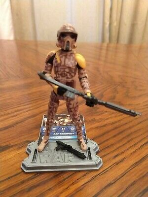 STAR WARS clone wars ARF TROOPER brown CAMO army builder FIGURE toy card stand