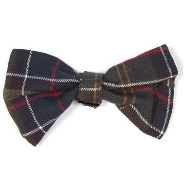 Barbour Classic Tartan Dog Bow Tie Dickie Accessories Clothing Green