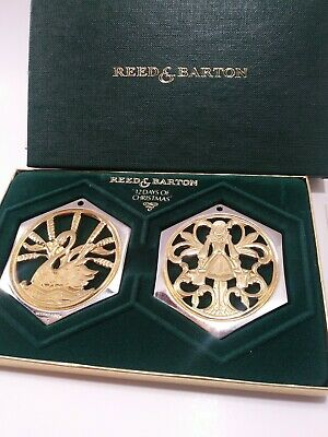 Reed & Barton • 8 Maids a Milking & 7 Swans • 12 Days of Christmas Ornament 1986