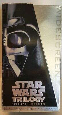 Star Wars Trilogy VHS Tape Special Edition Platinum Widescreen Edition Set 1997
