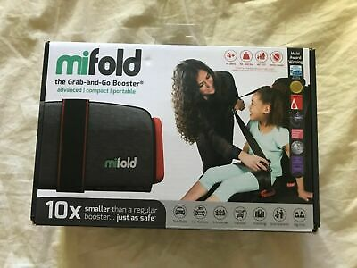 mifold Grab and Go Car Booster Seat Compact Portable Safe Slate Grey