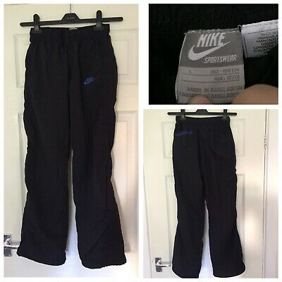Boys/ Girls NIKE AIR BLACK TRACKSUIT TROUSER BOTTOMS LARGE 12-13 Years (A266)