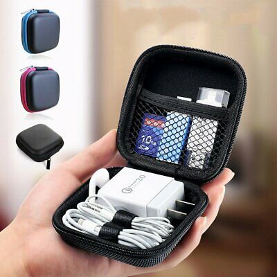 Hard Case Pouch Storage Bag For Earphone Headphone Earbuds Cable Portable