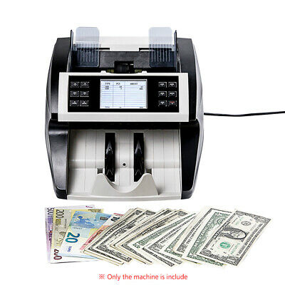 Multi-Currency Cash Banknote Money Bill Counter Counting Machine UV MG LCD G4E4