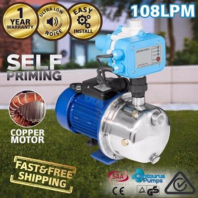 Garden Jet Water Pump High Pressure Automatic Self Priming - 1500W 4500L/H aS
