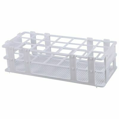 Plastic Test Tube Rack for 30mm Tube, 21 Well, White,Detachable (21 Hole) O8O7