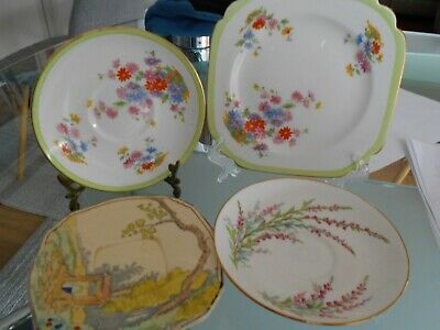 Victoria China Square Plate/Round Saucer Royal Winton Saucer & R Doulton Saucer
