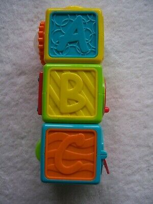Baby's Playgro Stackable Activity ABC Blocks VGUC