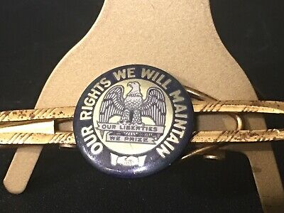 Vintage Iowa State Motto Tie Bar Unusual Our Liberties We Prize