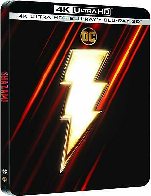 Shazam! (4K UHD + 3D + 2D Blu-ray Steelbook) ATMOS - EMBOSSED - NEW / SEALED