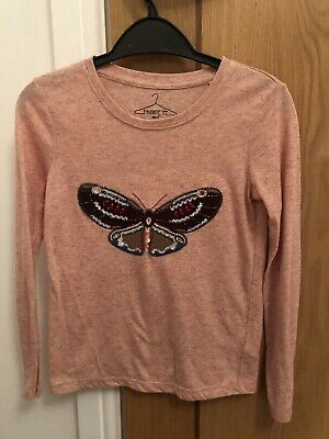 Next Girls Long Sleeve Top Age 7 Butterfly Design