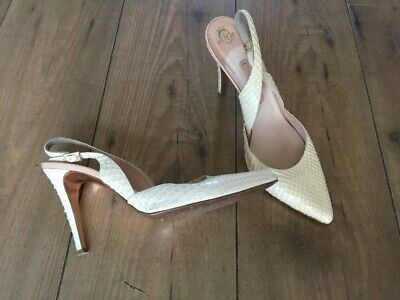 Gina Slingback Stiletto Heel Shoes Ivory Cream Wedding Perfect Size 7