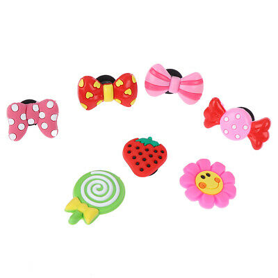5pcs Lovely Strawberry Bowknot PVC Shoe Charms Shoe Buckles Shoes Accessories 3W