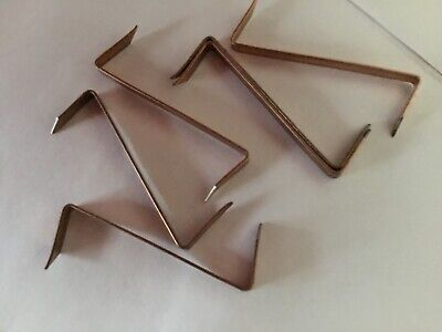 """50 Picture framing Coppered 'Z' Clips 1.1/4"""""""