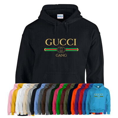 GUCCI GANG HOODIE Hoody Top Lil Pump Rapper Hip Hop Adults Kids Unisex Boy Girl