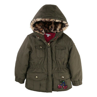 Little Marc Jacobs Baby Girls Cherry Quilted Padded Jacket Coat 4 Years