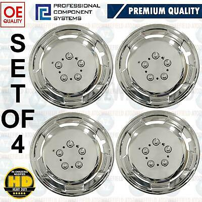 """For Iveco Daily Fiat Ducato 15"""" Chrome Polished Deep Dish Wheel Trims Hubs Caps"""
