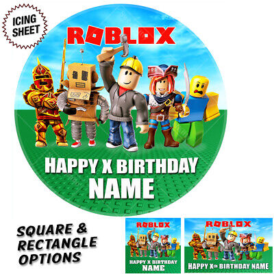 Roblox Cake Topper Personalised Icing Sheet