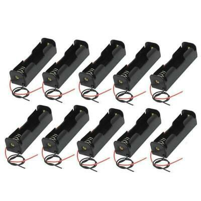 10pcs/Lot Single Slot 18650 Mobile Battery Clip Case Holder with Wire Leads DIY