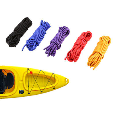5mx4mm Elastic Bungee Cord Shock Rope Crafting Stretch String for Kayak Boat