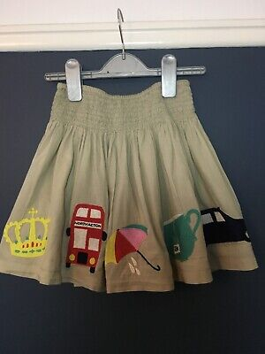 Iconic Mini Boden London Embroidered Skirt Fabulous Condition Age 6-7